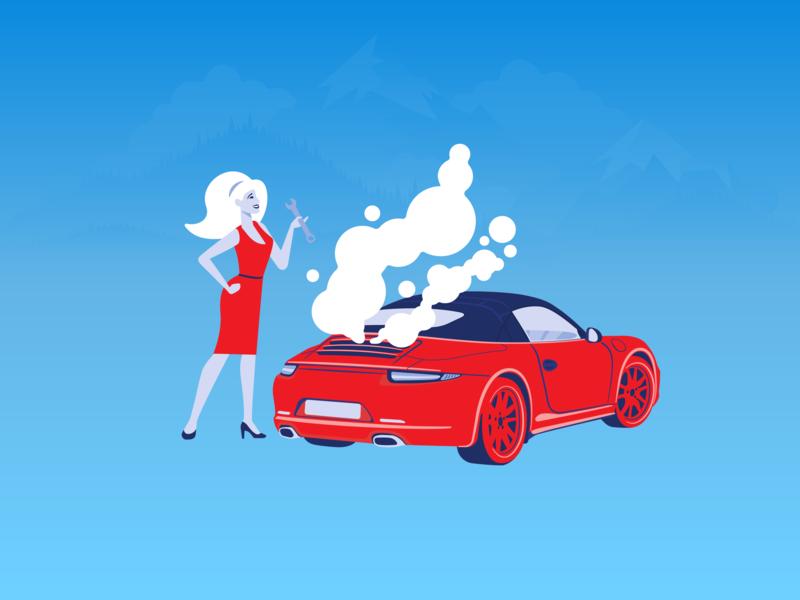 redblue vector flat art illustrator illustration design