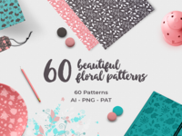 60 Floral Patterns Volume 1