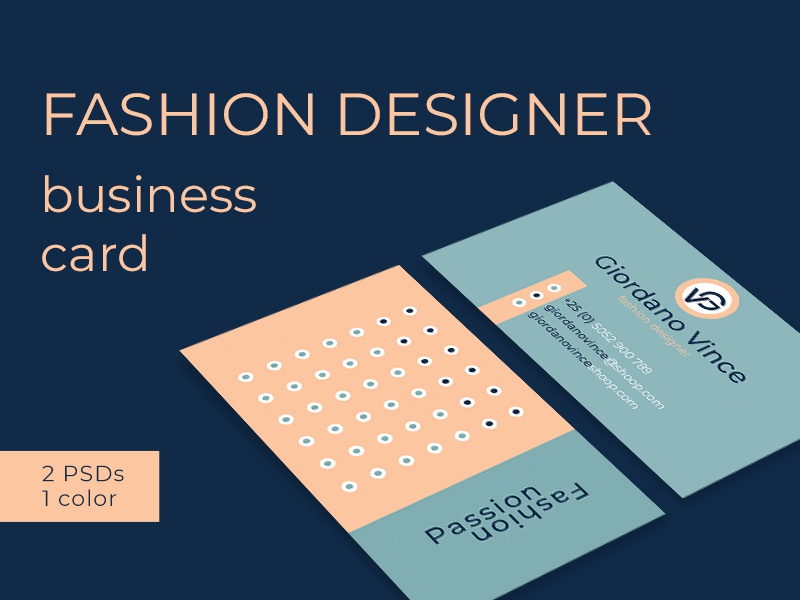 Fashion Designer Business Card By