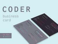 Coder / Developer Business Cards