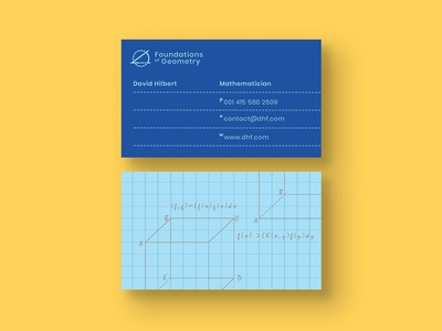 Mathematician Business Card