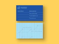 Mathematician Business Card