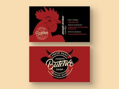 Butcher Shop Business Card