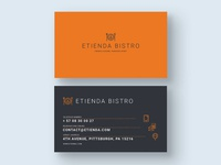 French Gourmet Bistro- Business Card