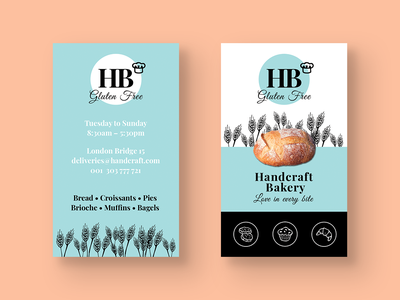 Bakery Business Card pies croissants muffins bread baker french bakery bakery french restaurant bistro business template personal business cards personal card business card template brand identity material brand graphic design creative design business cards business card