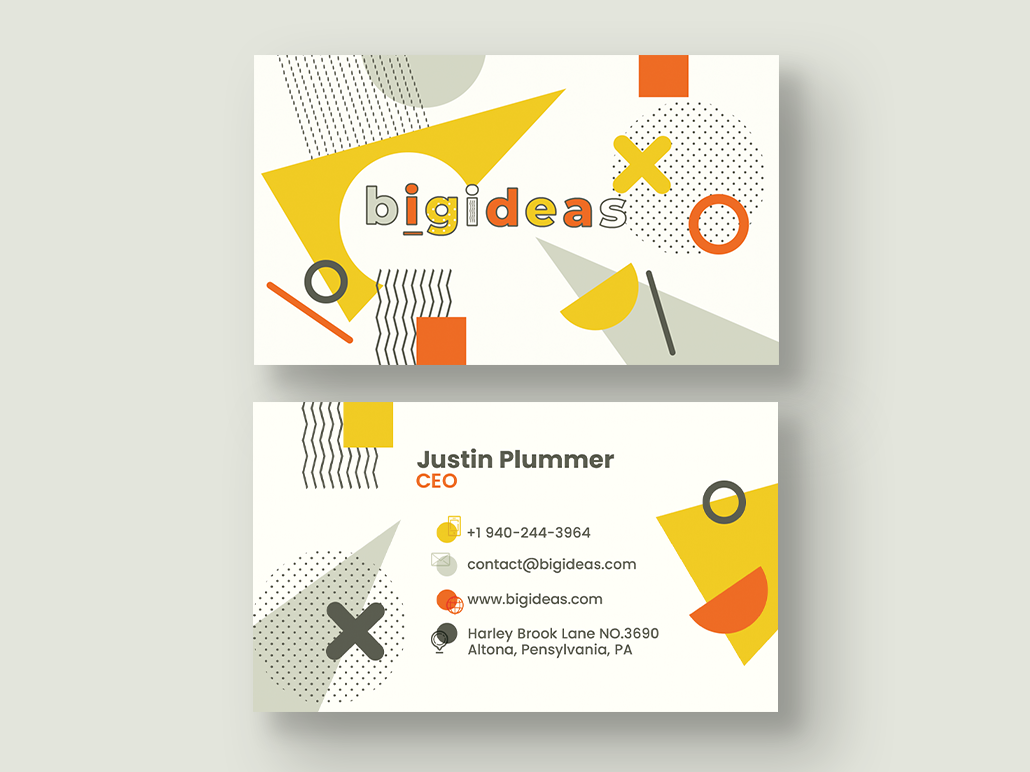 Coworking Space Business Card creativity ideas business template personal business cards personal card business card template brand identity material brand graphic design creative design business cards business card office coworking