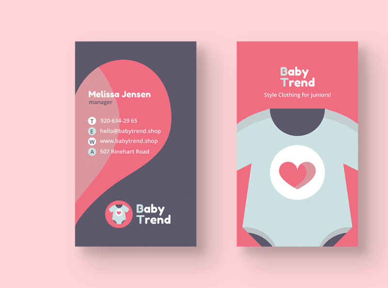 Baby Clothes Shop Business Card By Felicity Morgan On Dribbble