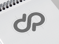 D + P logo concept.