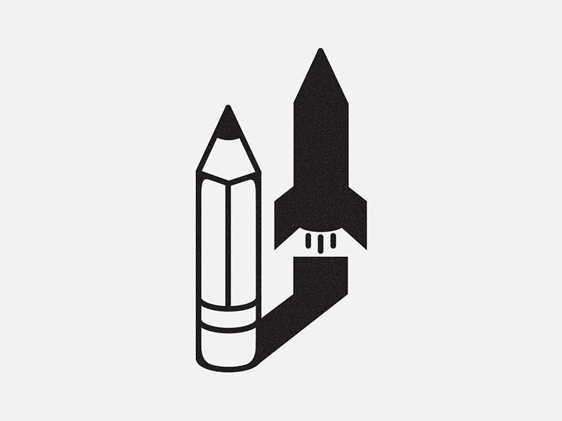 Shadow of the rocket rocket shadow creativity pencil illustration