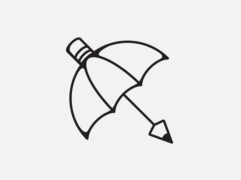 Pencil umbrella umbrella creativity pencil illustration