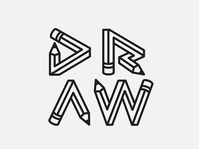 Draw! typography creativity pencil illustration