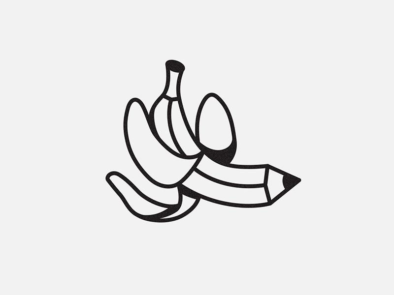 Banana pencil food banana creativity pencil illustration
