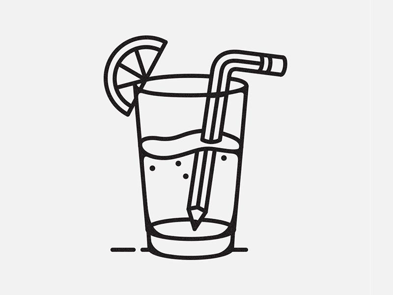 Pencil Drink pencil illistration lemon lemonade drink