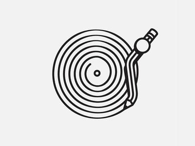 Pencil Vinyl sound player circle creativity illustration pencil vinyl music