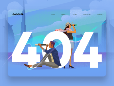 Website 404 Error Illustration
