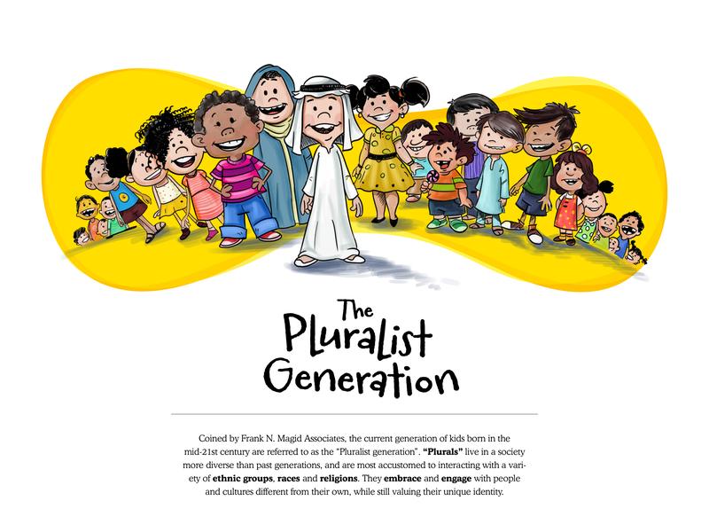 The Pluralist Generation - 1 vector design typogaphy educational illustration editorial design character design editorial illustration illustration