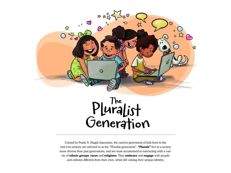 The Pluralist Generation - 2 educational illustration education website website design vector editorial illustration character design illustration