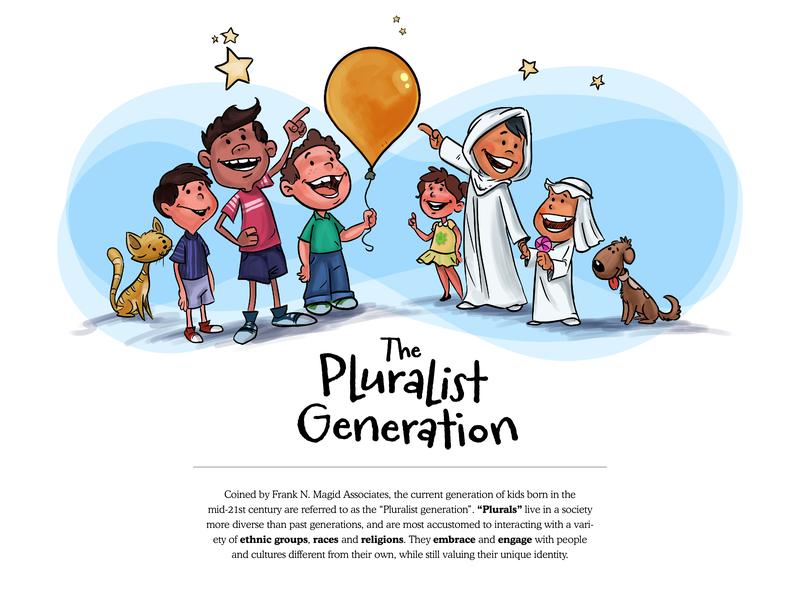 The Pluralist Generation - 3 educational illustration vector website design editorial illustration character design illustration