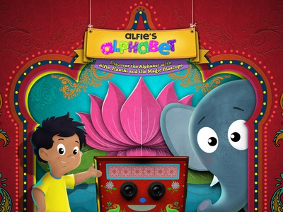 Alfie Alphabet App for Kids design educational illustration childrens book animation app editorial illustration character design illustration