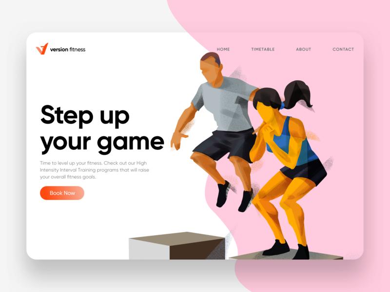 Dribbble Spotlight Header Concept Copy branding design website illustration