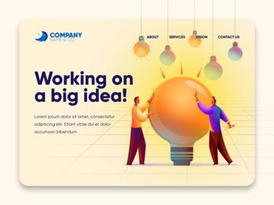 Big Idea! thought leadership innovation design ux hero image spotlight images web design illustration