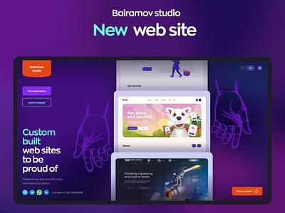 Bairamov studio -  Web site trend site built custom studio design ui ux development web site bairamov studio