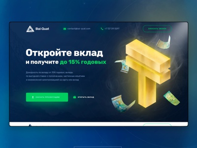 investment company / Bank / Money / Web design ui web web design design cash money bank bairamov.studio
