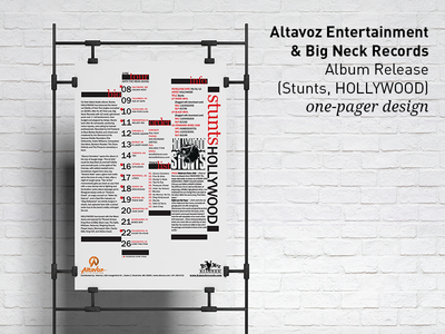Altavoz Entertainment & Big Neck Records - One-Pager design