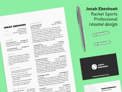 Jonah Ebenhoeh - Résumé Design