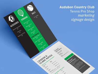 Audubon Country Club - Signage Design