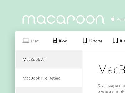 Macaroon ui mac apple shop green icons