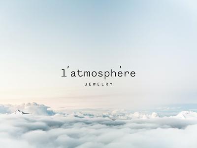 l'atmosphère jewelry logo jewelry identity design logo branding