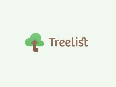 Treelist logo tree cloud upload icon treelist