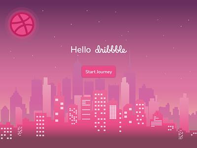 Dribbble Debut hello dribbble debut first shot