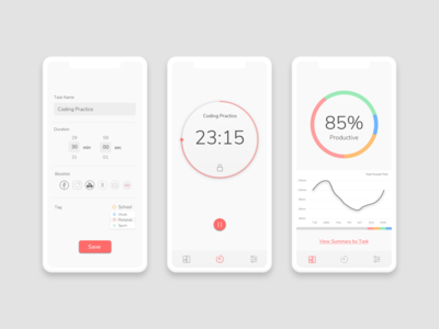 Smart timer to block distractions