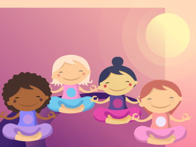 Free Illustrations Yoga Girls