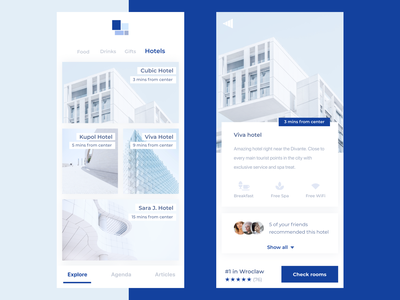 Hotel recommendation view design reservation ux app branding guide hotels travel ui ux design pwa divante