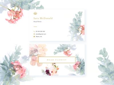 Businesscard for Head Florist