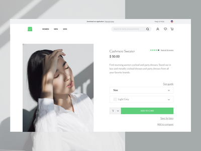 Vue Storefront Product Page web website store shop vue.js vuejs design ui clean product page eshop ecommerce ux design pwa divante
