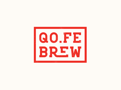 QO.FE branding coffee brew vector logo