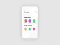 ColorPlate app design