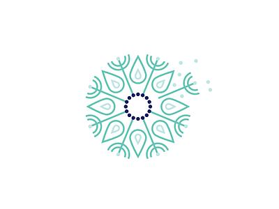 Dandelion nature seed logo dandelion