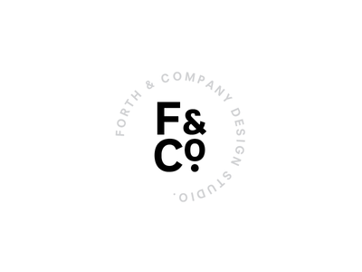Forth&Co. type stamp logo