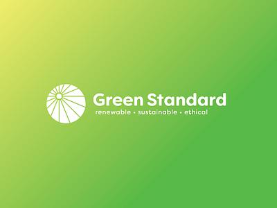 Green Standard sun solar ethical sustainable energy renewable logo