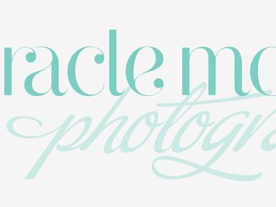MM Photography logo photographer type script