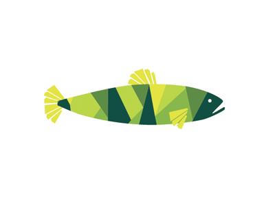 Fish fish logo geometric