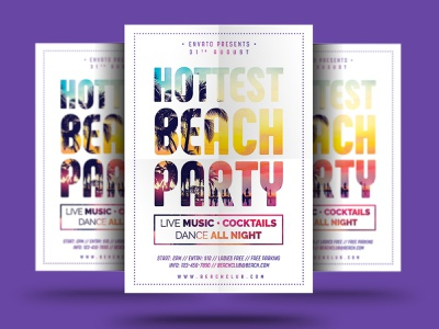 Beach Party Flyer summer holiday summer event summer beach party summer psd poster party flyer party nightclub hottest beach flyer hottest holiday flyer holiday flyer event club beach party beach holiday beach flyer beach