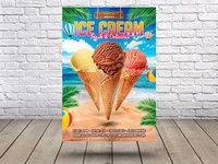 Summer ice Cream Flyer