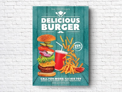 Burger Flyer print menu ketchup hot dog happy hour hamburger grill french fries food flyer food festival fast food drink dinner cheesburger cafe burger poster burger menu burger flyer burger