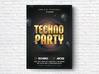 Techno Party Flyer